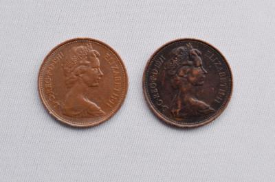 Rare Vinatge 2 New Pence 1971 foto
