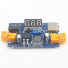 Sursa LM2596 DC-DC Convertor Step-Down Power LED Voltmeter output 1.25-37V