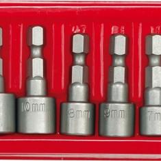 Set 8 tubulare cu prindere bit 13 mm CrV VOREL