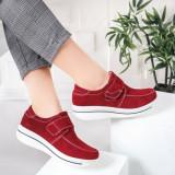 Pantofi dama casual Piele rosii Alassy