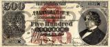 500 dolari 1878 Reproducere Bancnota USD , Dimensiune reala 1:1