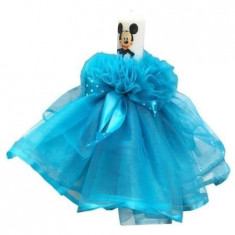 Lumanare bleu,model rochita, Mickey, 28 cm