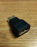 Adaptor/mufa HDMI mamă - mini HDMI tată, noi, capete aurite