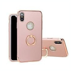 Husa Apple iPhone X, Elegance Luxury 3in1 Ring Rose-Gold, MyStyle