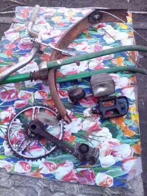 Lot piese  bicicleta Veche Ukraina foto