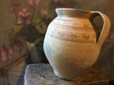 Arta si Traditie - Vas / Oala mare cu maner de Sisesti realizata manual !