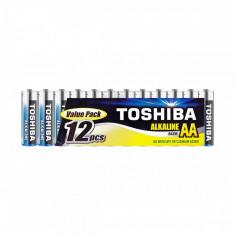 Set 12 baterii alcaline Toshiba R6 AA