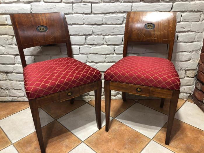 Pereche scaune biedermeier de epoca