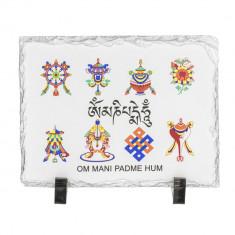 Placheta ( placa ) cu cele 8 simboluri norocoase