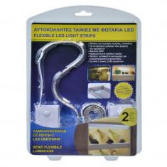 Set 2 benzi flexibile luminoase LED, 2 x 30 cm, Oem