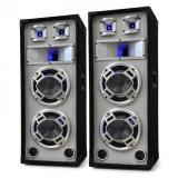 Skytec Pereche de boxe pasive PA Speaker 1200W, alb