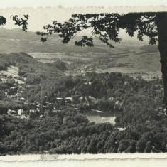 Cp Sovata : vedere generala cu Lacul Ursu - anii 1930, Necirculata, Fotografie
