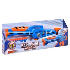 Arma de jucarie pentru copii, model lansator tip blaster cu 20 de sageti moi
