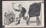 Carte Postala - Caricatura Romania Regala - Regele Carol, Necirculata, Printata
