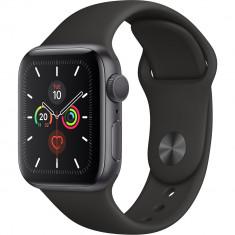 Watch 5 GPS Aluminiu Negru 40MM Si Curea Sport Silicon Negru