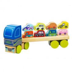 Jucarie din lemn Cubika Camion pentru masini