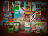Pliante vechi turism Romania: Craiova, Eforie Nord,Bistrita-Nasaud,etc