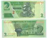 = ZIMBABWE - 2 DOLLARS - 2016 -UNC =