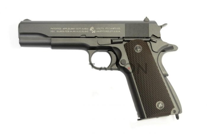 PROMOTIE! PISTOL AIRSOFT FULL METAL COLT 1911,INCARCATOR,CALIBRU 6MM,400FPS+BILE