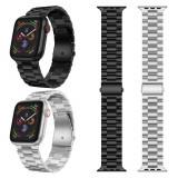 Curea metalica ceas Apple Watch seria 6 5 4 3 2 1 42/44 mm - negru / argintiu