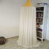 Baldachin de tavan galben cu stele ivory diametru 65 cm