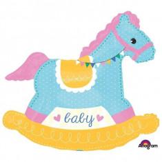 Balon folie figurina Baby Rocking Horse 73 x 66 cm