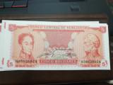 Venezuela 5 bolivares  1989  UNC/  ALBUM GRATIS pentru 20 bancnote  cumparate