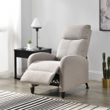 Fotoliu Relax Textil Maro, 102 x 60 cm, poliester, maro, cu spatar reglabil