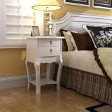 Noptieră cu 2 sertare, alb