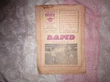 program rapid steaua an 1986 stadion giulesti x12