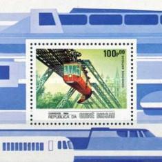Guinea Bissau 1984 - LOCOMOTIVE, colita neuzata