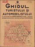Ghidul turistului si automobilistului harta nr 32 Cetatea Alba 1936