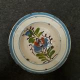 7. Farfurie veche din ceramica pentru agatat pe perete blid vechi lut 21,5 cm