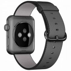 Curea pentru Apple Watch 42 mm iUni Woven Strap, Nylon, Electric Gray