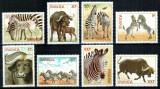 Ruanda Rwanda 1984, Mi #1283-1290 A**, fauna, animale salbatice, MNH, cota 16 €!, Nestampilat
