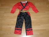 Costum carnaval serbare power rangers ninja pentru copii de 4-5 ani, Din imagine