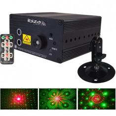 Laser 3w rg cu led albastru si telecomanda