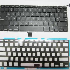 "Tastatura Apple MacBook Pro Unibody 13"" A1278 2008-2012 neagra layout US cu retroiluminare noua"