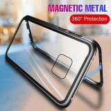 Husa cu prindere magnetica pentru Huawei Mate 20 Lite / Mate 20 Pro, Alt model telefon Huawei, Negru, Rosu, Metal / Aluminiu
