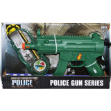 Pistol mitraliera de jucarie cu busola si insigna, 25 cm