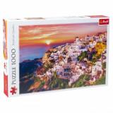 Puzzle 1000 piese, model santorini la apus, multicolor