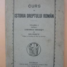 PERETZ - CURS DE ISTORIA DREPTULUI ROMAN - vol. II, partea a II-a
