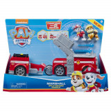 Masina de pompieri 2 in 1 Split Second Marshall Patrula Catelusilor cu 2 figurine, Spin Master