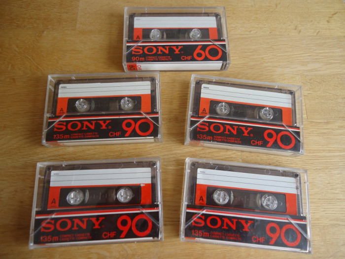 Casete audio anii 70, 80 Sony, Maxell, Sanyo, etc