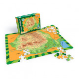 Puzzle Travel - Harta Romaniei 100 Piese