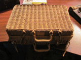 GE - Cutie maricica artizanat / rustica / taraneasca impletitura nuiele