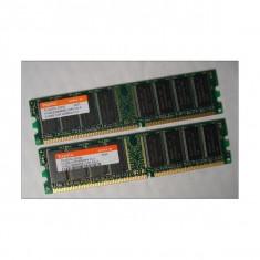 Memorie RAM 1GB Kit 2*512MB Hynix HYMD264646B8J-D43 AA-A Non-ECC PC3200 400MHz DDR1 Desktop