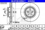 Disc frana SUBARU LEGACY IV Combi (BL, BP, B13) (2003 - 2016) ATE 24.0130-0204.1