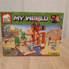 NOU/SIGILAT - Set de 140 piese tip lego Minecraft - ELEPHANT D