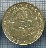 AX 1419 MONEDA-ITALIA-200 LIRE-ANUL1996 ACADEMIE GARDA FINANCIARA-STAREA SE VEDE, Europa